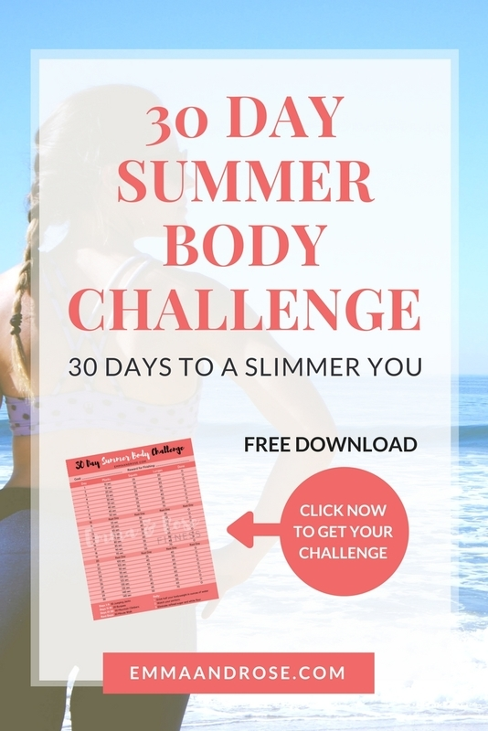 30 Day Summer Body Challenge