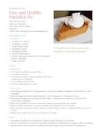 Easy and Healthy Pumpkin Pie Recipe