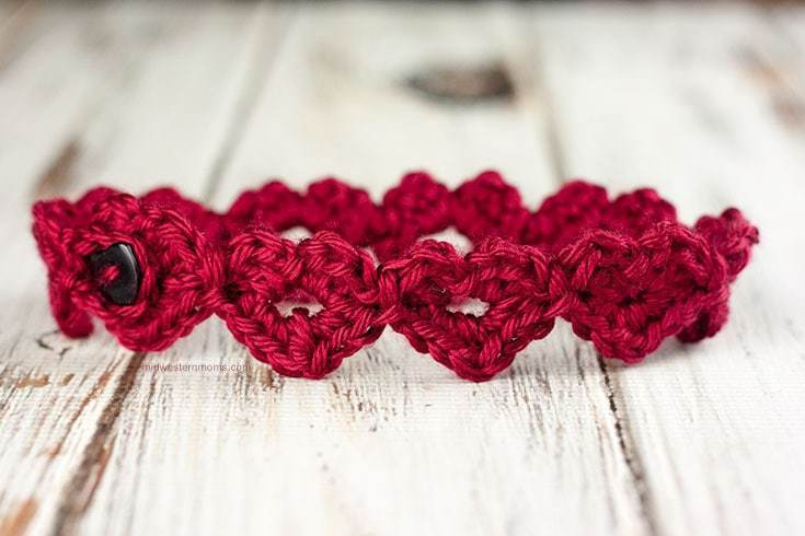 Beautiful Crochet Heart Headband Pattern