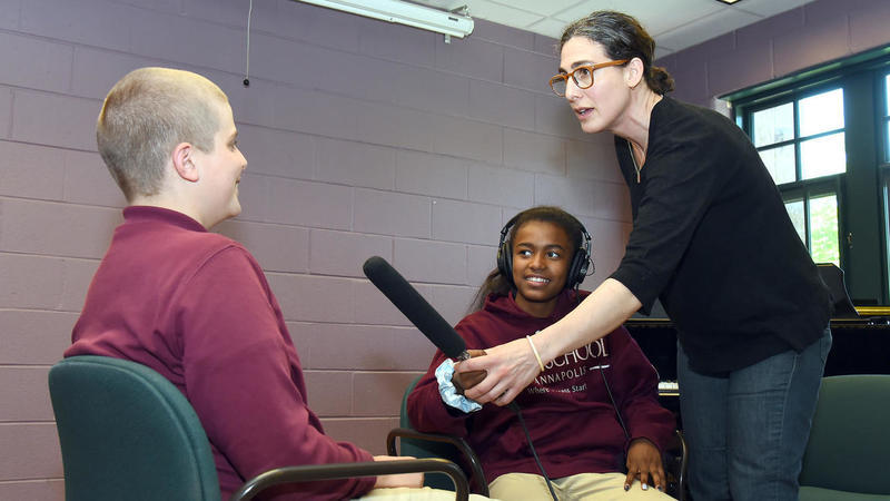 Sarah Koenig of 'Serial' gives St. Anne's students the power to podcast