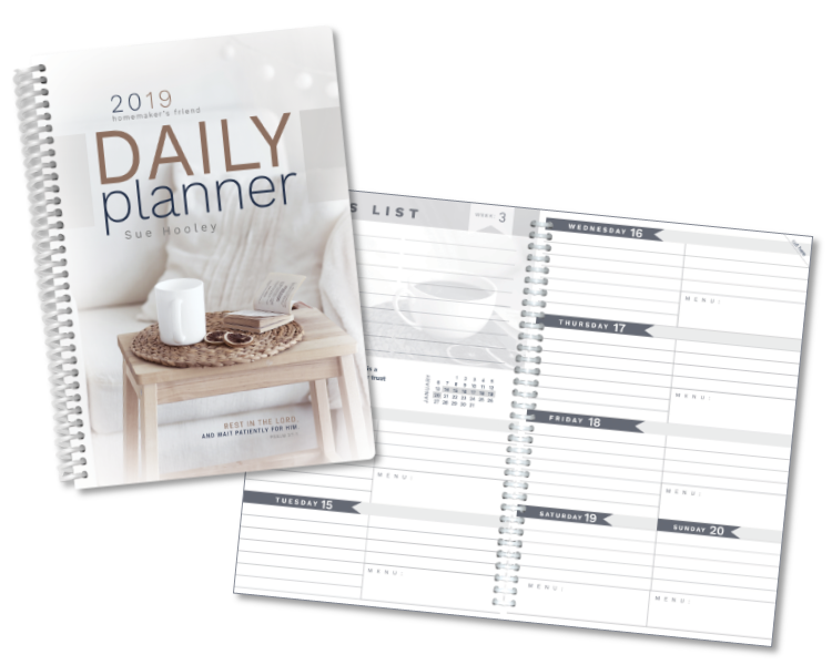Homemaker's Friend Daily Planner 2019
