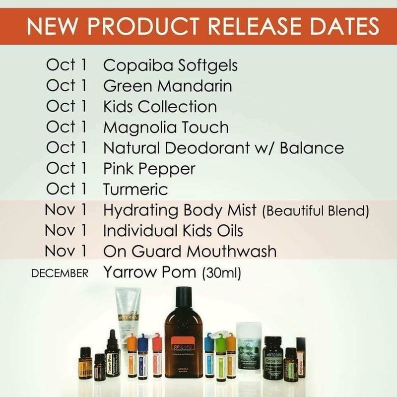 Individual product release dates