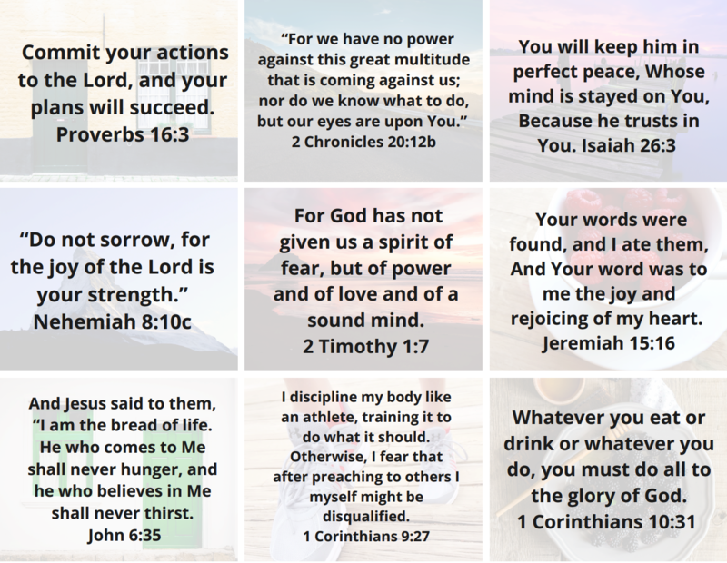 Bible Verses for Weight Loss Devotional Cards Opt-in ...