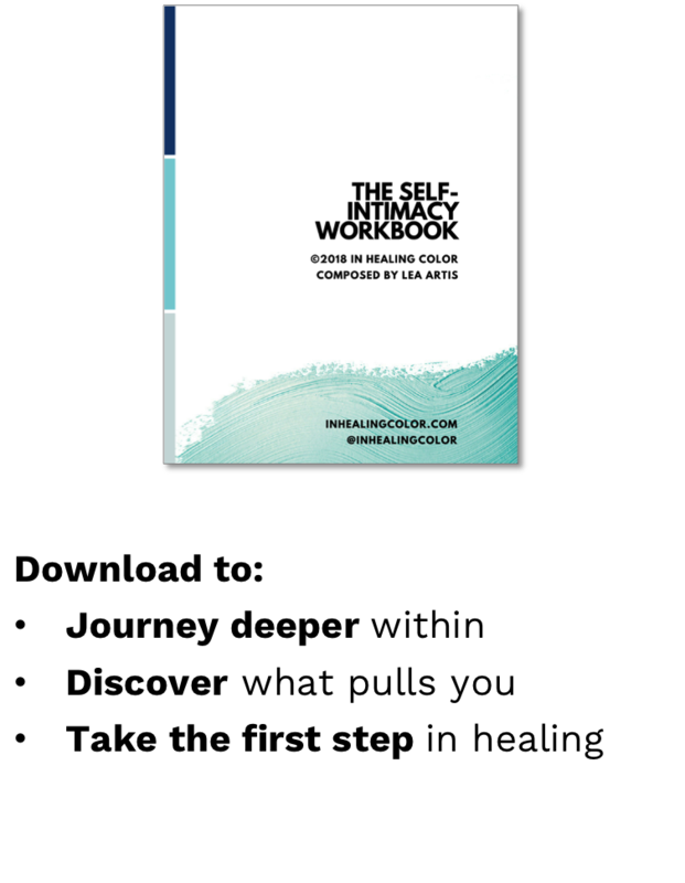 self-intimacy workbook — in healing color