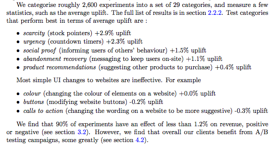 Meta-analysis of 6700 online experiments