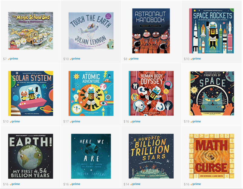 Picture books about math and science