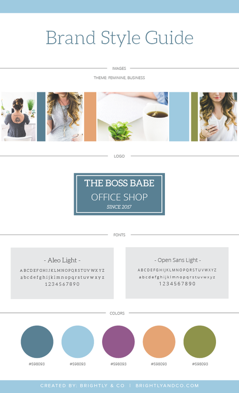 Brightly CoQuickly Easily Create A Consistent Brand Look Free - Brand style guide template