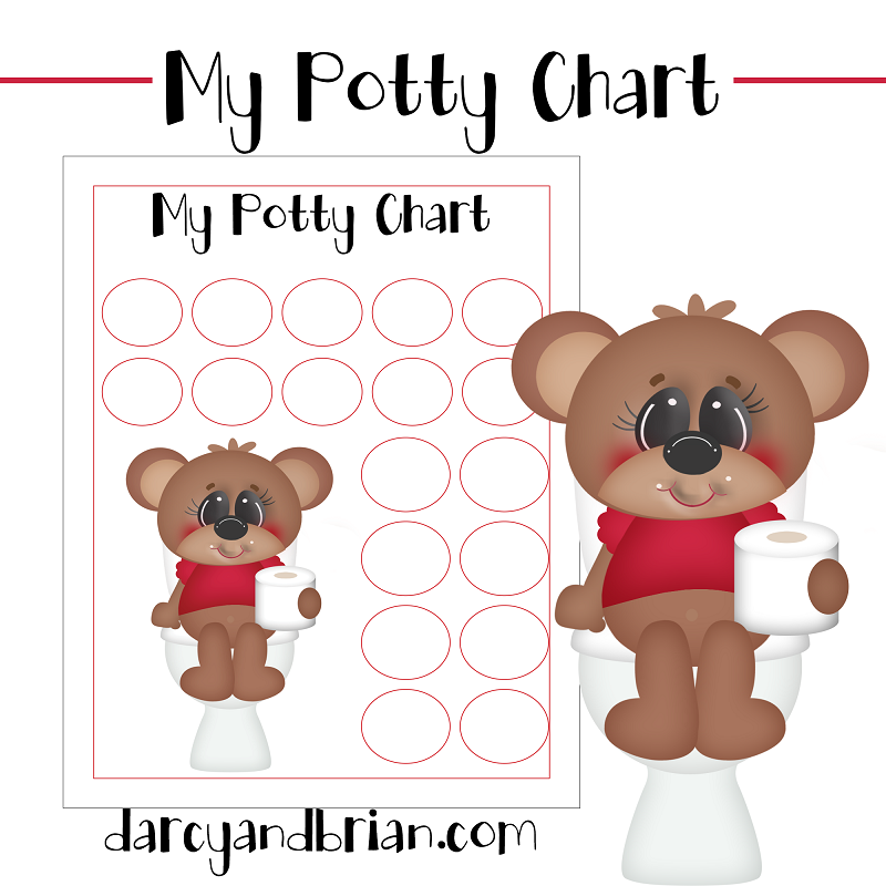 This Free Printable Potty Training Chart And Tips For An