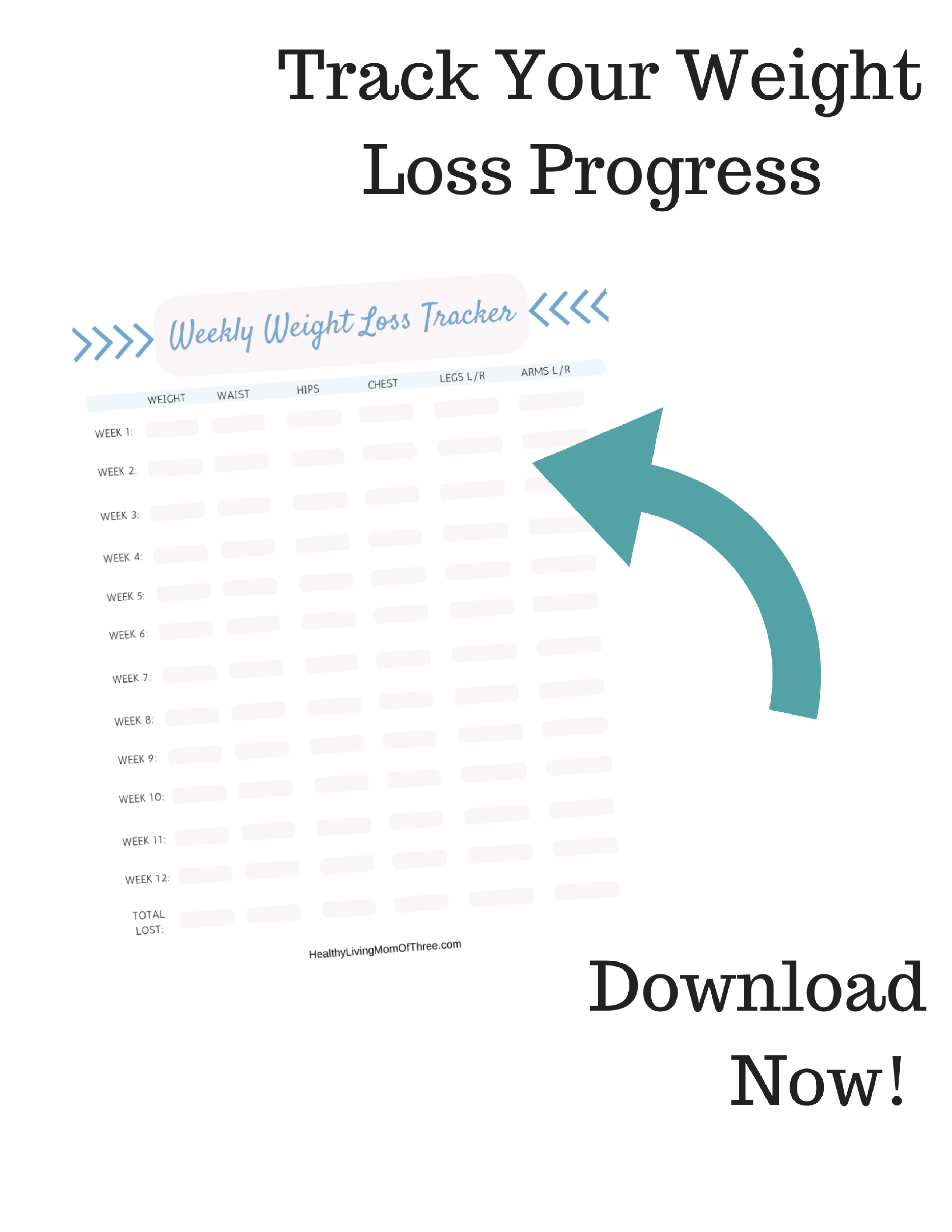 weight loss tracker landing page more than a mom of three