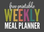 Tol free printable weekly meal planner title 450x333