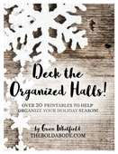 Deck the organized halls cover