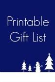 Printable gift list image s2