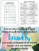 Free laundry room printables and quotes small