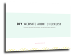 Diy website audit checklist   code love creative