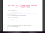 Talkabout your work