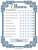 Manners printable image