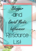 Blogger and social resource list