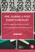 Pin  trade show checklist
