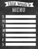 Chalkboard menu 3