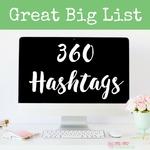 Hashtags list