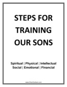 Steps for training our sons cover