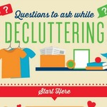Questions to ask while decluttering infographic square 400x400