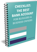Bank account checklist spiralbinder new