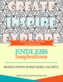 Create inspire explore coloring book cover page 2