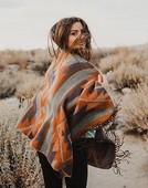 Boho woman with windy hair  hipster girl %281%29