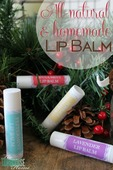 All natural homemade lip balm
