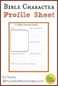 Bible character profile sheet
