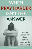 When pray harder is not the answer