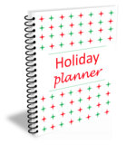 Holiday planner book cover