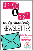 Take and try newsletter pin