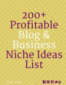 200  profitable blog   business niches ideas list
