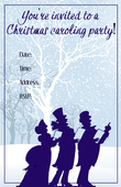 Christmas caroling party invitation