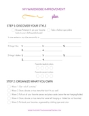 Printable  how to plan for a better mom wardrobe