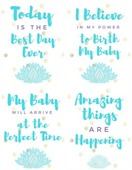 Birth affirmations printable  labor looming edition (small)