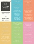 30 cleaning tasks sidebar