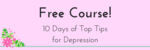 10 days of top tips for depression email header