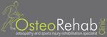 Osteo rehab clinic logo on grey