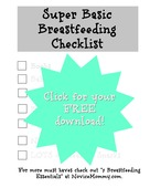 Super basic breastfeeding checklist   free download