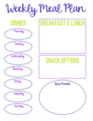 Meal plan printable screen shot