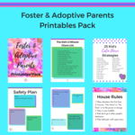 Foster adoptive parents printables pack insta