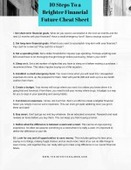 10 steps to a brighter financial future cheat sheet graphic small