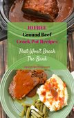 10 ground beef crock pot recipes cover easycrockpotrecipe