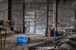 Metallic door destruction abandoned factory hollow 162462