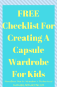 Freechecklist for creating a capsule wardrobe for kids