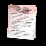 Starting a wordpress blog checklist