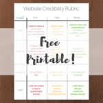 Website credibility rubric preview